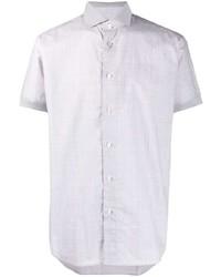 Мужская серая рубашка с коротким рукавом от Brioni
