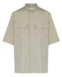 Мужская серая рубашка с коротким рукавом от Ermenegildo Zegna