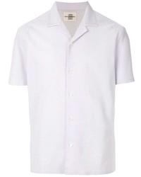 Мужская серая рубашка с коротким рукавом от Kent & Curwen