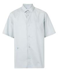 Мужская серая рубашка с коротким рукавом от Kenzo