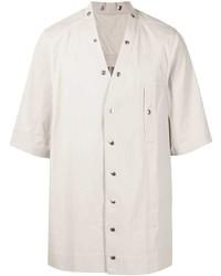 Мужская серая рубашка с коротким рукавом от Rick Owens