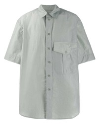 Мужская серая рубашка с коротким рукавом от Song For The Mute