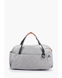 Женская серая спортивная сумка из плотной ткани от adidas