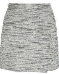 Серая твидовая мини-юбка