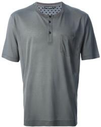 Мужская серая футболка на пуговицах от Dolce & Gabbana
