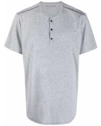 Мужская серая футболка на пуговицах от John Varvatos