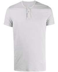 Мужская серая футболка на пуговицах от Majestic Filatures