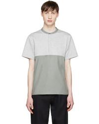 Мужская серая футболка на пуговицах от Tim Coppens