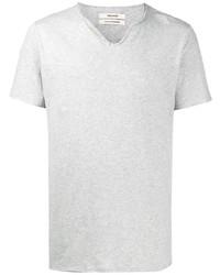 Мужская серая футболка на пуговицах от Zadig & Voltaire