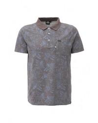Мужская серая футболка-поло от Animal