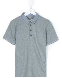 Детская серая футболка-поло для мальчику от Armani Junior