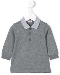 Детская серая футболка-поло для мальчику от Il Gufo