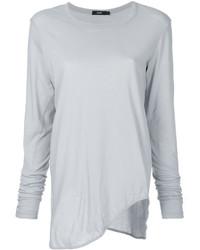 Женская серая футболка с длинным рукавом от Bassike
