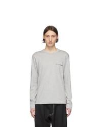 Мужская серая футболка с длинным рукавом от Comme Des Garcons SHIRT