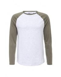 Мужская серая футболка с длинным рукавом от Topman