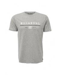 Мужская серая футболка с круглым вырезом с принтом от Billabong