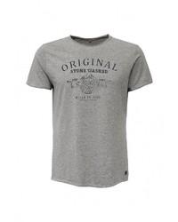 Мужская серая футболка с круглым вырезом с принтом от BLEND