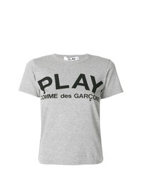 Женская серая футболка с круглым вырезом с принтом от Comme Des Garcons Play
