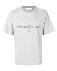 Мужская серая футболка с круглым вырезом с принтом от Golden Goose