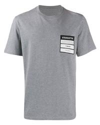 Мужская серая футболка с круглым вырезом с принтом от Maison Margiela