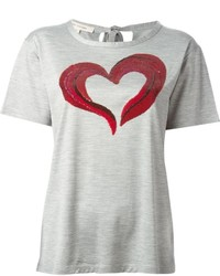 Женская серая футболка с круглым вырезом с принтом от Marc Jacobs