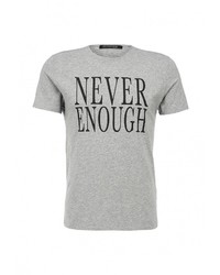 Мужская серая футболка с круглым вырезом с принтом от Marciano Guess
