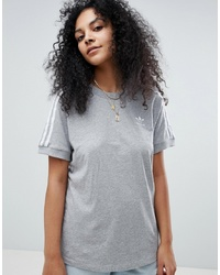 Женская серая футболка с круглым вырезом от adidas Originals
