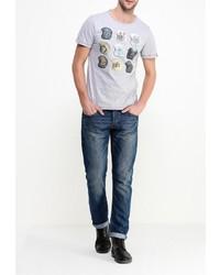 Мужская серая футболка с круглым вырезом от BLEND