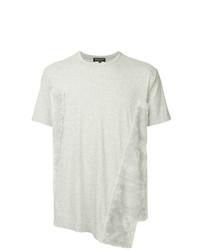Мужская серая футболка с круглым вырезом от Comme Des Garcons Homme Plus