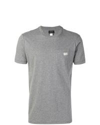 Мужская серая футболка с круглым вырезом от Diesel