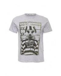 Мужская серая футболка с круглым вырезом от F5