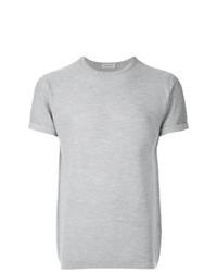 Мужская серая футболка с круглым вырезом от John Smedley