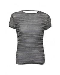 Женская серая футболка с круглым вырезом от LOST INK