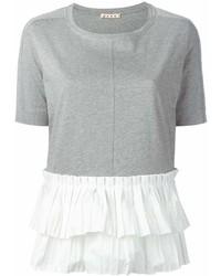 Женская серая футболка с круглым вырезом от Marni