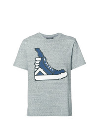 Мужская серая футболка с круглым вырезом от Mostly Heard Rarely Seen 8-Bit