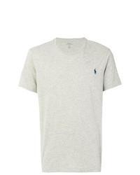 Мужская серая футболка с круглым вырезом от Polo Ralph Lauren