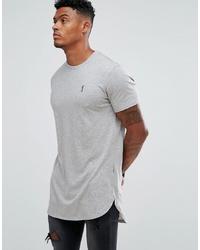Мужская серая футболка с круглым вырезом от Religion