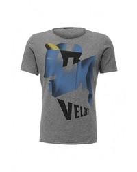 Мужская серая футболка с круглым вырезом от Sisley
