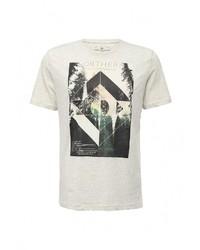 Мужская серая футболка с круглым вырезом от Tom Tailor