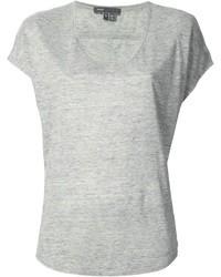 серая футболка с v образным вырезом original 1308795