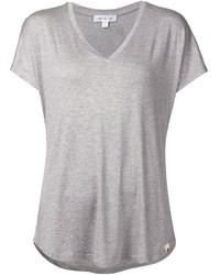 Женская серая футболка с v-образным вырезом от Amour Vert