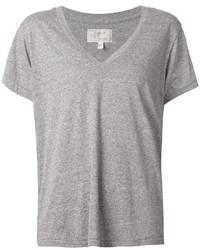 Женская серая футболка с v-образным вырезом от Current/Elliott