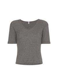 Женская серая футболка с v-образным вырезом от Lot78