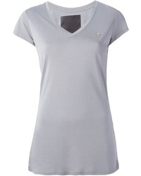 Женская серая футболка с v-образным вырезом от Philipp Plein