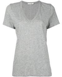 Женская серая футболка с v-образным вырезом от Rag & Bone