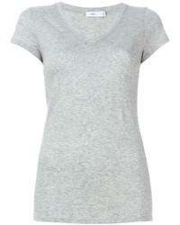 Женская серая футболка с v-образным вырезом от Vince