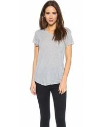 Женская серая футболка с v-образным вырезом от Zoe Karssen