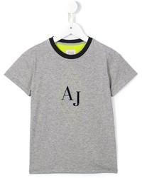 Детская серая футболка для мальчику от Armani Junior