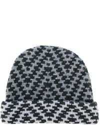 Мужская серая шапка с принтом от Etro
