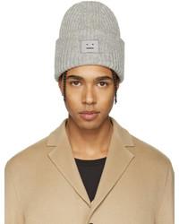 Мужская серая шапка от Acne Studios